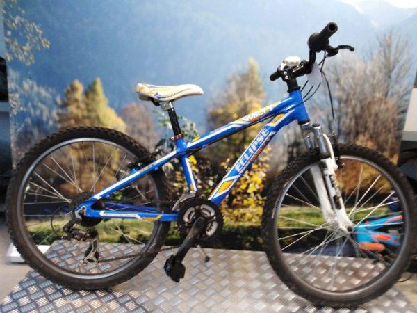 MTB bambino azzurra 24 alluminio 21v Cicli Bettega Mezzano